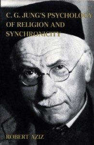 Carl Jung on the cover of C. G. Jung's Psyholog of religion & Sunchronicty, R. Aziz