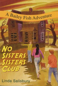 """No Sisters Sisters Club"", an engaging cover for a Young Adult book."