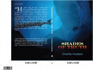 """Shades of Truth"" A provocative one piece cover for a mass market book."
